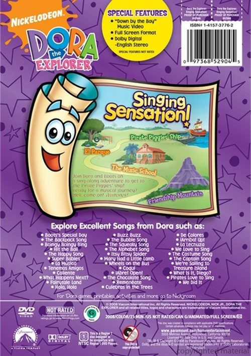 Dora The Explorer: Singing Sensation (DVD 2008) | DVD Empire