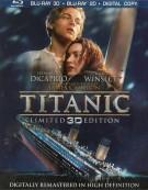 Titanic 3D (Blu-ray 3D + Blu-ray + DVD + Digital Copy) Blu-ray