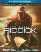 Riddick: Unrated Directors Cut (Blu-ray + DVD + UltraViolet) Blu-ray