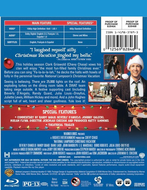 National Lampoon's Christmas Vacation (Blu-ray 1989)