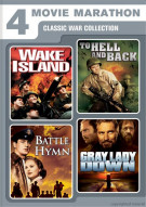 Wake Island / To Hell And Back / Battle Hymn / Gray Lady Down (4 Movie Marathon)