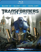 Transformers: Dark Of The Moon 3D - Ultimate Edition (Blu-ray 3D + Blu-ray + DVD + Digital Copy)