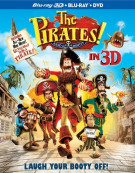 Pirates! Band Of Misfits 3D, The (Blu-ray 3D + Blu-ray + DVD)