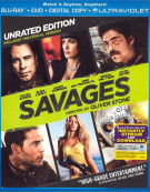 Savages (Blu-ray + DVD + Digital Copy + UltraViolet)