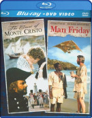 Count Of Monte Cristo, The / Man Friday (Blu-ray + DVD Combo)
