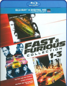 Fast & Furious: 3 Movie Collection (Blu-ray + UltraViolet)