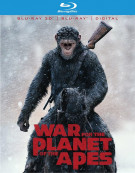 War For The Planet Of The Apes (Blu-ray 3D + Blu-ray + DVD + Digital Copy)