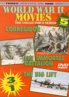 World War II Movies: Corregidor / The Immortal Battalion / The Big Lift