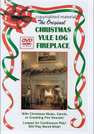 Christmas Yule Log Fireplace