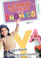 Learn To Read With Phonics:  Sight Words / Reading And Counting - Vol 3