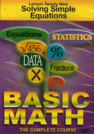 Basic Math: Solving Simple Equations