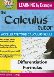 Calculus Tutor, The: Differentiation Formulas