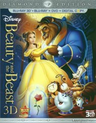 Beauty And The Beast 3D: Diamond Edition (Blu-ray 3D + Blu-ray + DVD + Digital Copy)