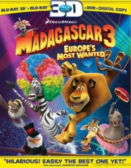 Madagascar 3: Europes Most Wanted 3D (Blu-ray 3D + Blu-ray + DVD + Digital Copy)