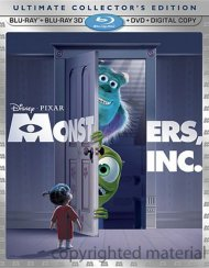 Monsters, Inc. 3D (Blu-ray 3D + Blu-ray + DVD + Digital Copy)
