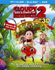 Cloudy With A Chance Of Meatballs 2 3D (Blu-ray 3D + Blu-ray + DVD + UltraViolet)