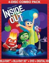 Inside Out (Blu-ray 3D + Blu-ray + DVD + Digital HD)