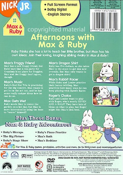 Max Amp Ruby Afternoons With Max Amp Ruby Dvd 2006 Dvd Empire