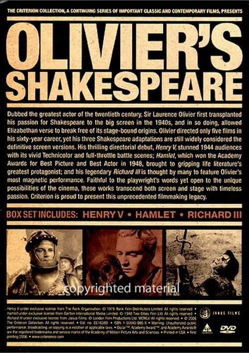 film studies adapting shakespeare (shakespeare on film 2000)(william shakespeare)(critical essay)literature-film quarterly v28, n2 (april, 2000):112 (6 pages) uc users only primacy, or the first adaptation in a series, and recency, or the latest in a series, are posited as having the greatest impact on audience impression.