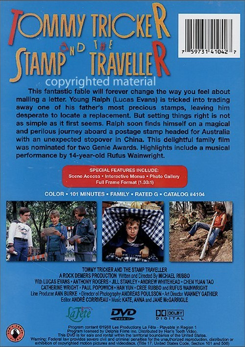 Tommy Tricker And The Stamp Traveller Dvd 1988 Dvd Empire