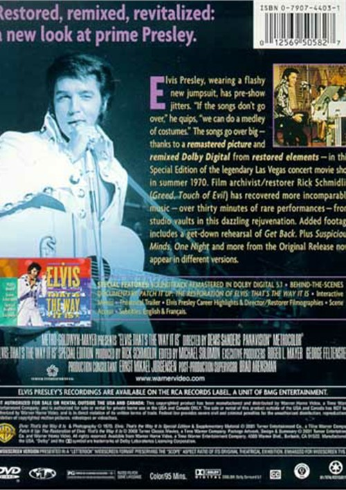 elvis thats the way it is dvd 1970 dvd empire