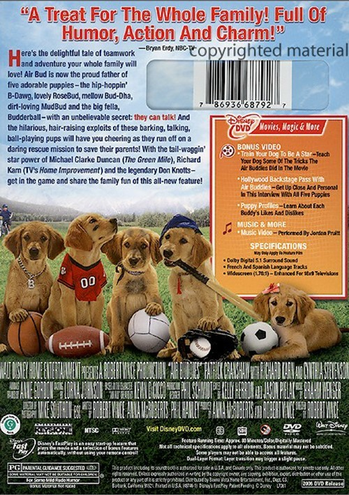 Air Buddies (DVD 2006) | DVD Empire | 500 x 709 jpeg 172kB