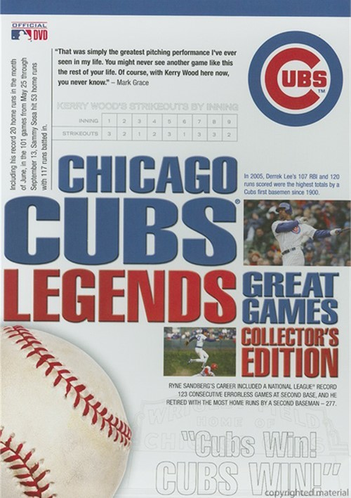 Chicago Cubs Legends: Great Games - Collectors Edition