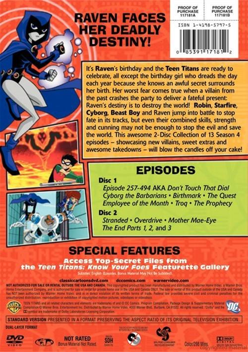 Teen Titans The Complete Fourth Season Dvd 2005  Dvd -3614