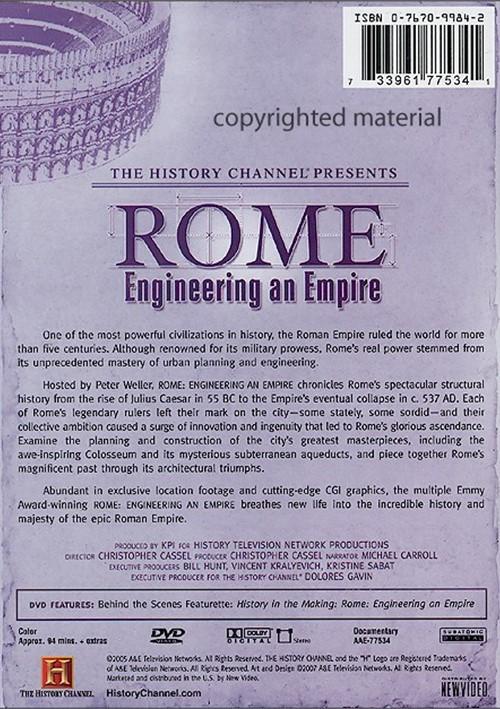 Engineering An Empire: Rome (DVD 2005) | DVD Empire