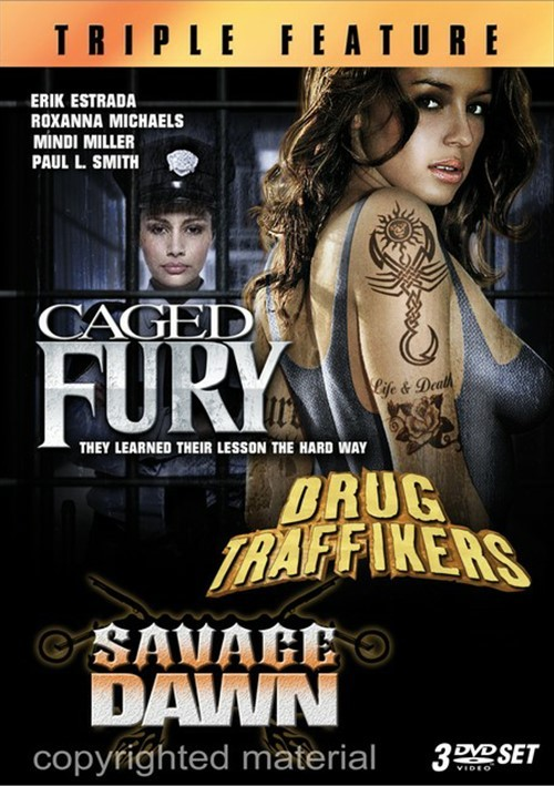Caged Fury / Drug Traffickers / Savage Dawn (Triple Feature)