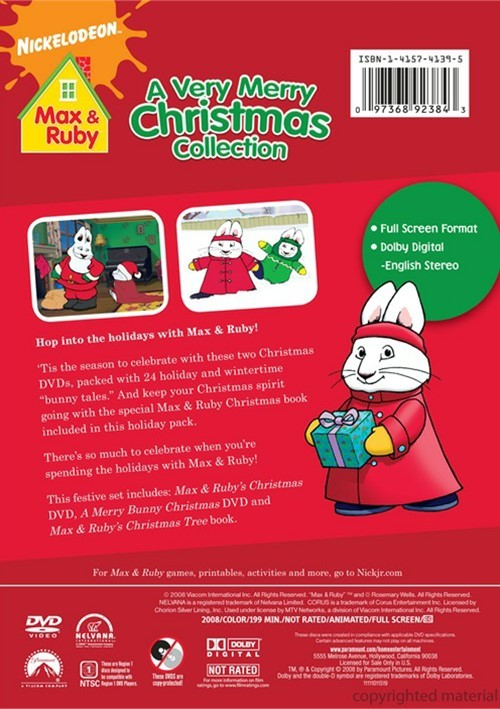 Merry Max Ruby Bunny Christmas Dvd And 3