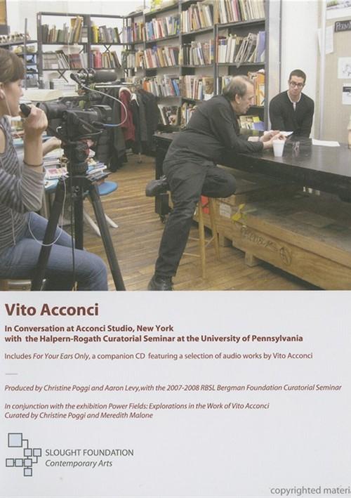 Vito Acconci In Conversation At Acconci Studio, New York
