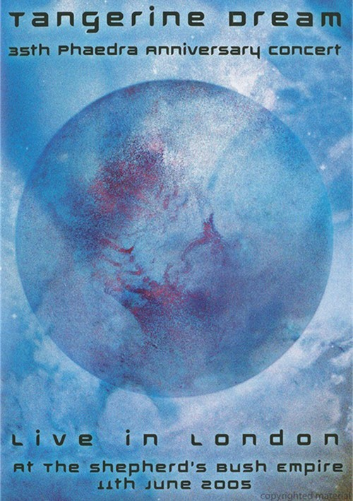 Tangerine Dream: 35th Phaedra Anniversary Concert