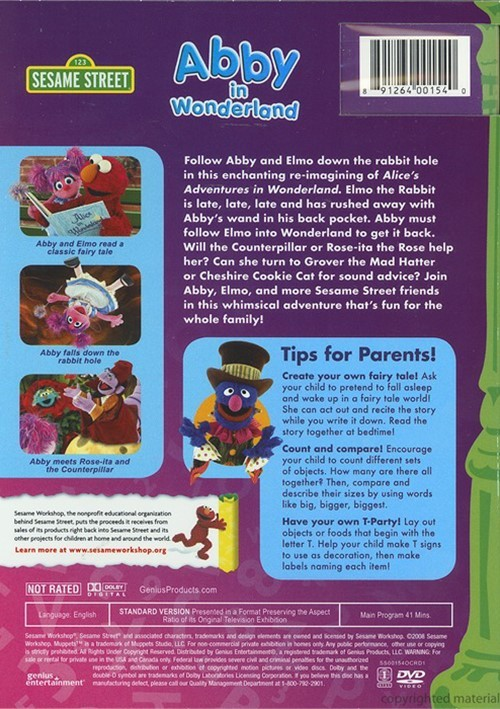 Sesame Street: Abby In Wonderland (DVD 2008)
