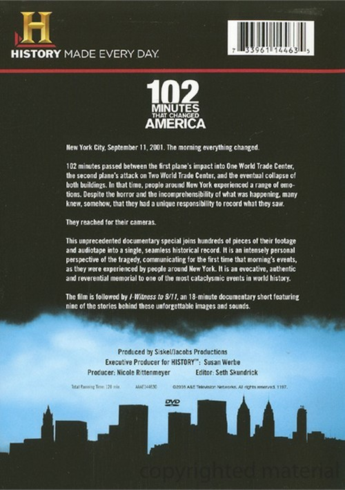 102 minutes that change america Of military and air traffic control conversations offer a moving perspective on 9/ 11 and the fateful minutes that changed america forever.