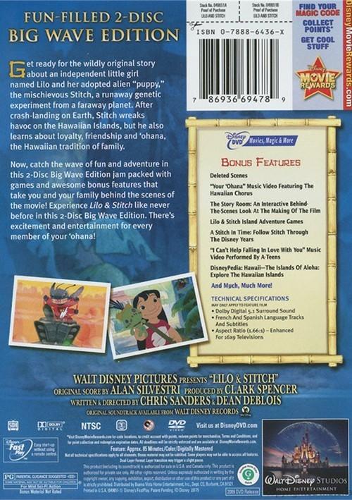 Lilo & Stitch: 2 Disc Big Wave Edition (DVD 2002) | DVD Empire Brother Bear Dvd Menu