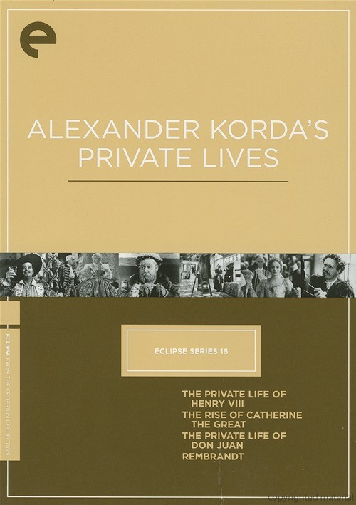 Alexander Kordas Private Lives: Eclipse From The Criterion Collection
