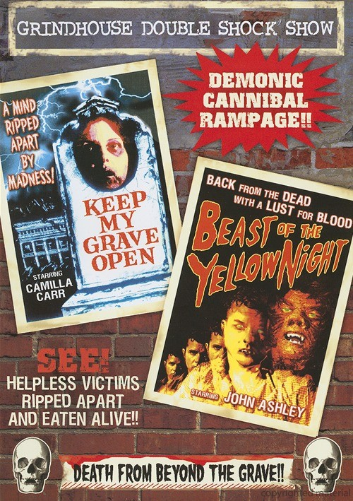 Grindhouse Double Shock Show: Beast Of The Yellow Night / Keep My Grave Open (Double Feature)