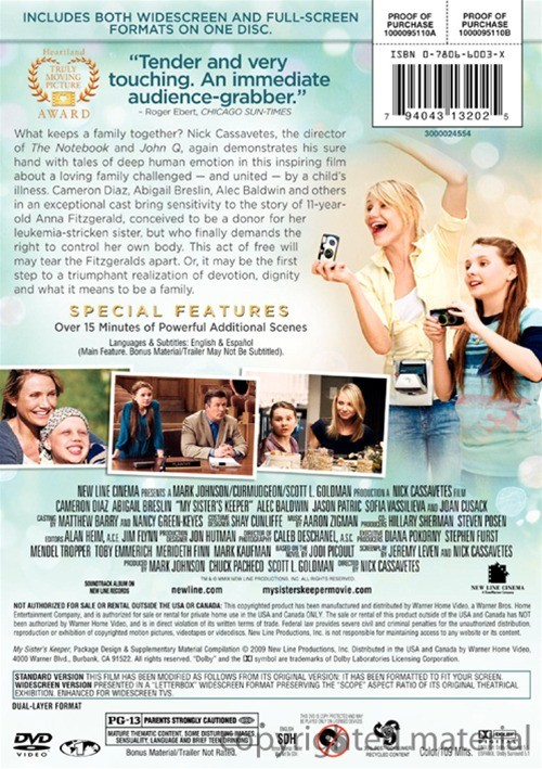 health perception of anna my sisters keeper My sister's keeper (2009) on imdb: plot summary campbell accepts to work pro bono and the obsessed sara decides to go to court to force anna to help her sister.