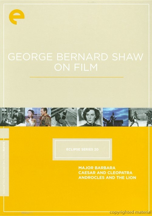 George Bernard Shaw On Film: Eclipse From The Criterion Collection