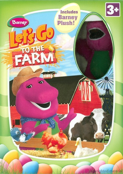Barney: Lets Go To The Farm - With Easter Plush Toy