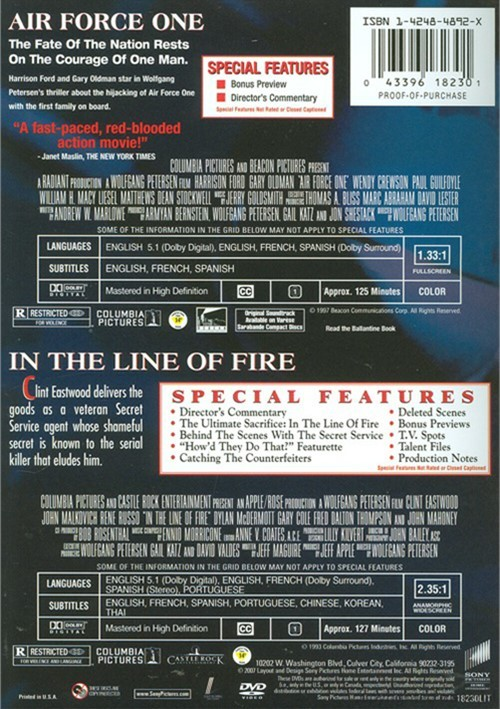 Air One / In The Line Of Fire: Special Edition (Double ...