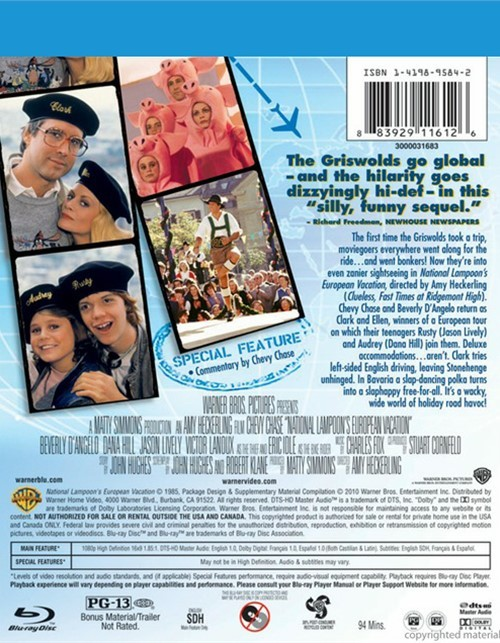 National Lampoon's European Vacation (Blu-ray 1985)