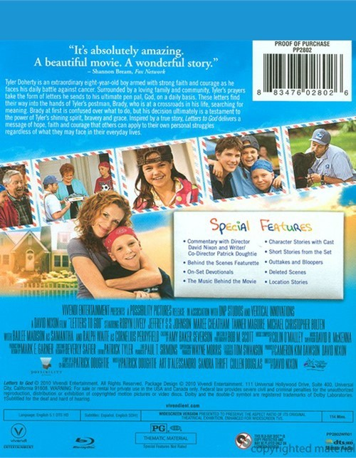 Letters To God Dvd Cover