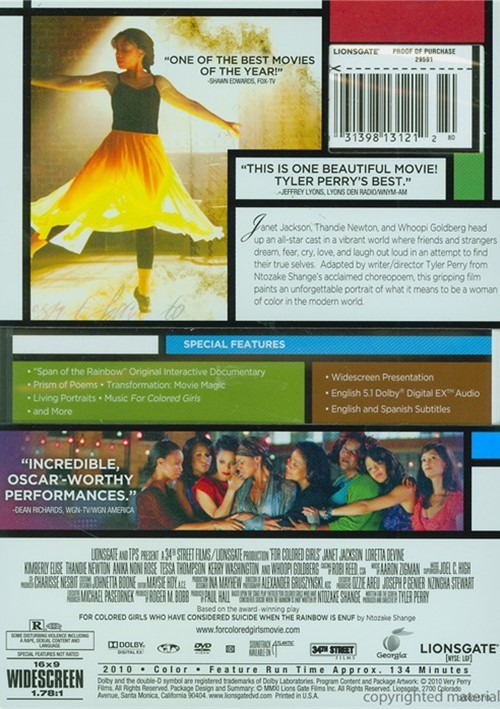 For Colored Girls (DVD 2010)