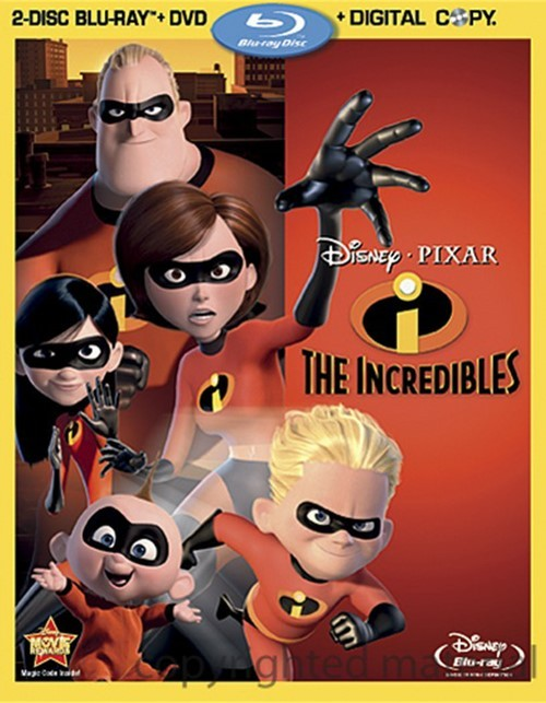 Incredibles, The (Blu-ray + DVD + Digital Copy)