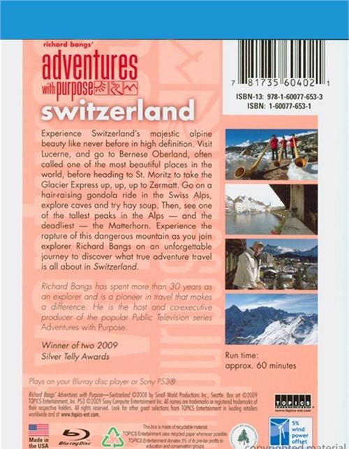 Adventures With Purpose: Switzerland (Blu-ray 2009)  DVD Empire