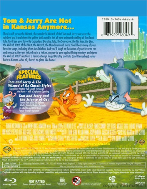 Tom And Jerry Wizard Of Oz Dvd DVD Empire | Fr...