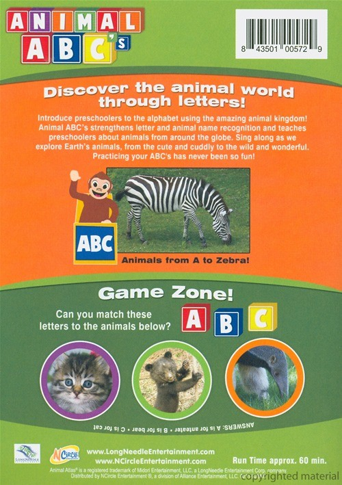Animals Atlas Animals Abc S Dvd Dvd Empire