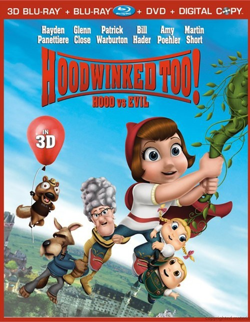 Hoodwinked Too!: Hood Vs. Evil In 3D (Blu-ray 3D + Blu-ray + DVD + Digital Copy)